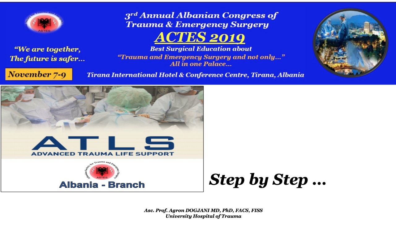 ATLS® Course Albania Brunch Step by Step - Oral Presentation in ACTES 2019
